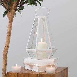White Candle Lantern - room decorations