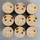 Bunny And Panda Kawaii Polymer Stamp Set