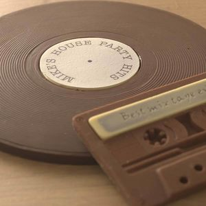 Personalised Chocolate Vinyl Record And Cassette Duo - foodies