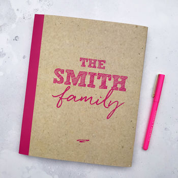 Personalised Family Activity And Memory Book