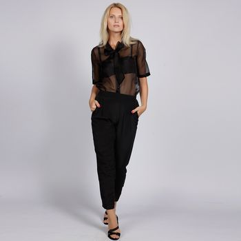 Sheer Blouse - Black