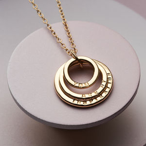 Personalised 9ct Gold Family Names Necklace - necklaces & pendants