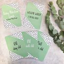 Mint Geometric Baby Milestone Cards