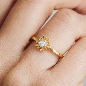 Bellis Ethical Fairtrade Diamond Flower Engagement Ring - engagement rings