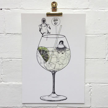 G And T Personalised Unframed Art Print