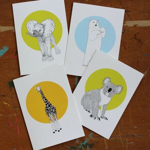 A Pack Of Four Or Eight Mixed Cards #Two