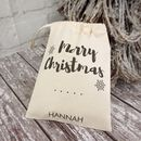 Merry Christmas Mini Christmas Sack