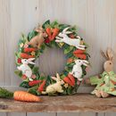 Carrot And Bunny Easter Wreath