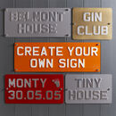 Personalised 3D Metal Signs