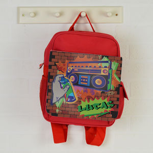 Personalised Backpack Graffiti - children's accessories