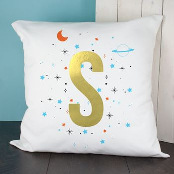 Gold Letter Space Cushion