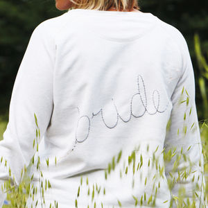 Personalised Initials 'Bride' Sweatshirt