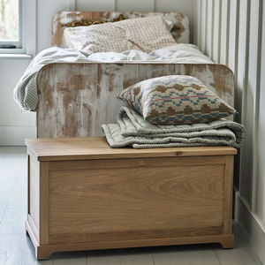 Witham Oak Blanket Box - toy boxes