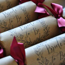 Wedding Favour Or Place Name Crackers Elegant Script