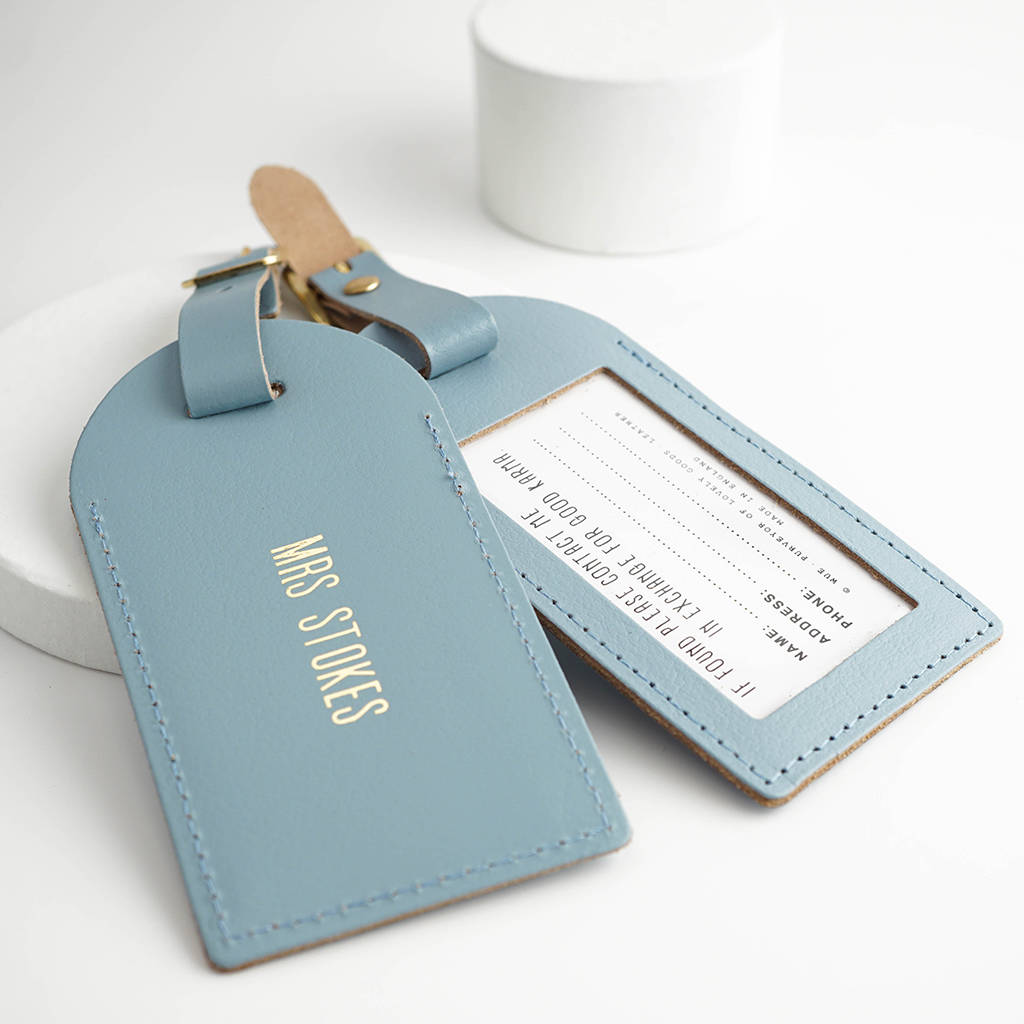 Leather Wedding Luggage Tags By Wue