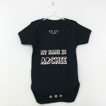 Personalised My Name Is Babygrow
