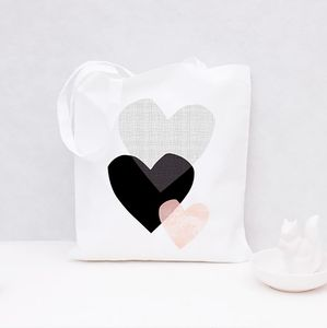 Tote Bag Three Hearts - bags, purses & wallets