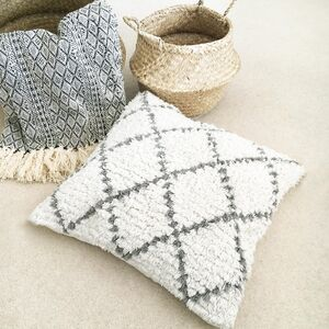Shaggy Geometric Moroccan Cushion