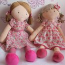 Large Katy And Pink Flower Girl Rag Doll