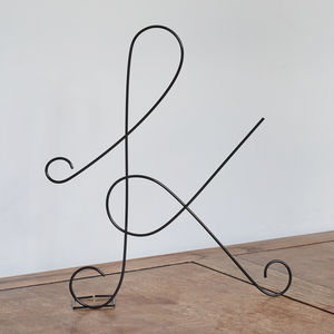 Black Wire Letters - decorative letters