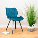 Lola Teal Velvet Dining Chair Set Of Two