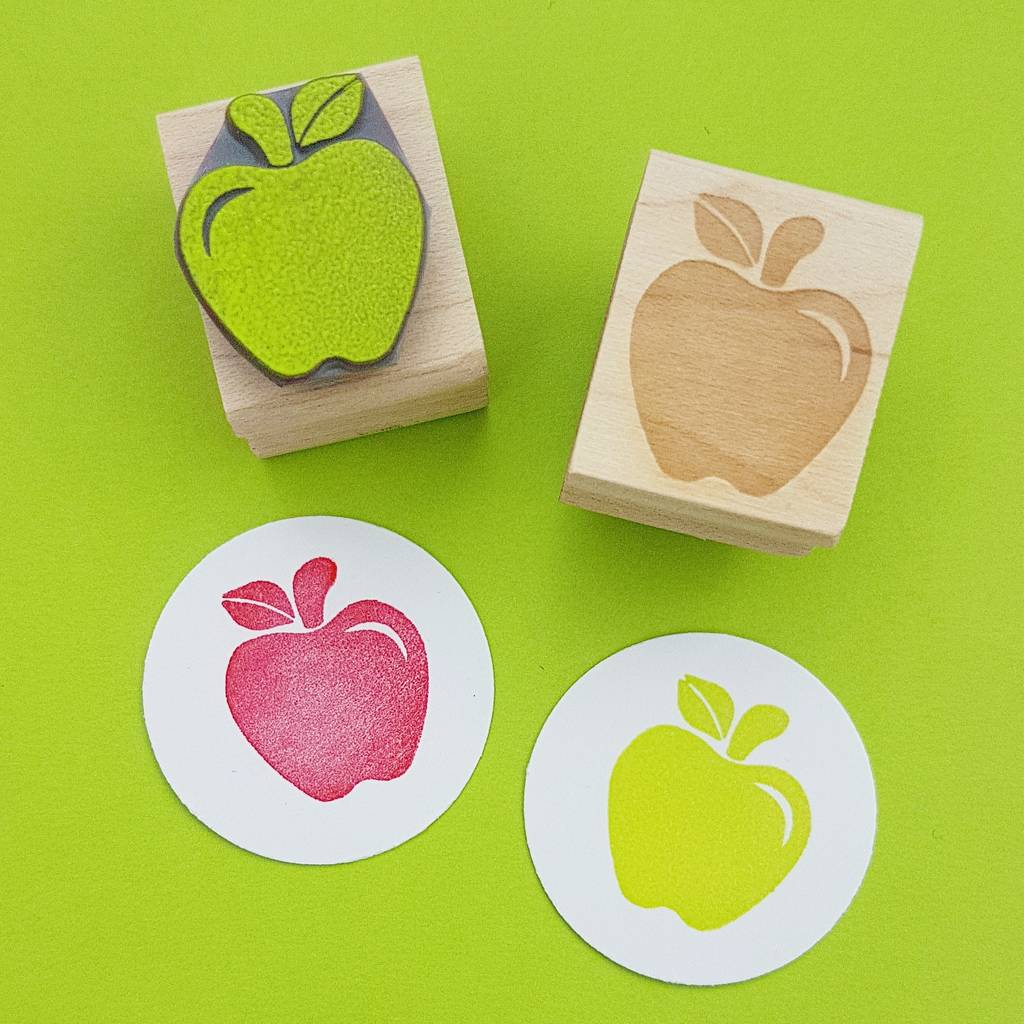 Apple For Teacher Rubber Stamp By Skull And Cross Buns Rubber Stamps