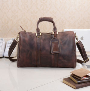 Vintage Leather Weekend Bag - birthday gifts
