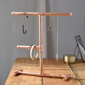 Industrial Copper Jewellery Stand
