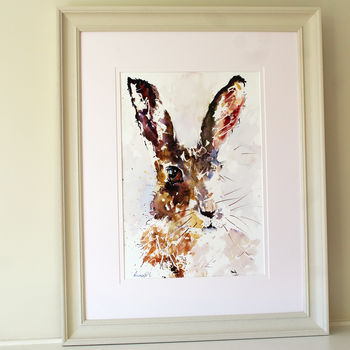 Hare Painting, Brown Eyed Hare
