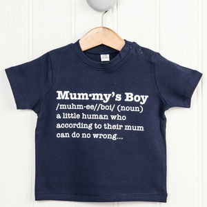 Mummy's Boy Definition T Shirt