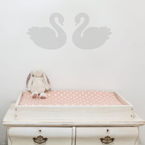 A Pair Of Swans Wall Stickers - winter sale