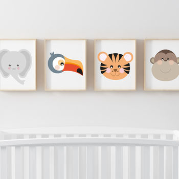 Set Of Four Jungle Children's Nursery Prints