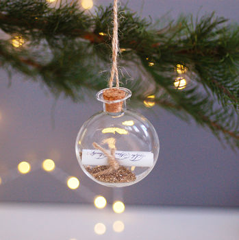 Personalised Wish Hanging Christmas Decoration Bauble