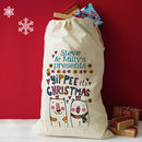 Personalised Couples Christmas Present Sack