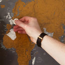 Scratch The World® Black Map Print With Coin