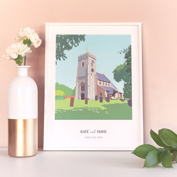 Personalised Church Or Wedding Venue Artwork