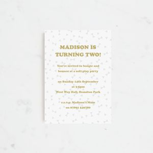 20 Bow Ties Personalised Birthday Party Invitation