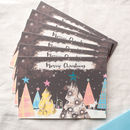 Night Forest Personalised Christmas Card Pack