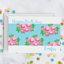 Floral Posy Pattern Birthday Card A5