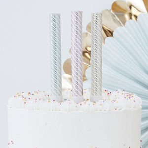 Pastel And Gold Foiled Party Cake Fountains Three Pack - cake toppers & decorations