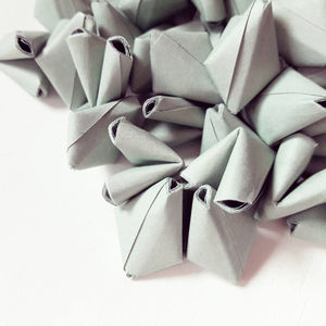 50 Sage Green Origami Heart Love Messages