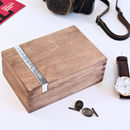 Natural Wood Personalised Wooden Cufflink Box