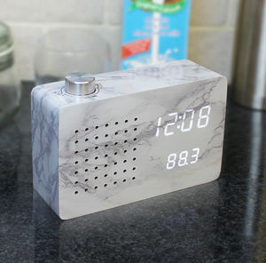 Marble Radio Click Clock - clocks