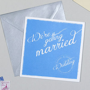 The Writer Wedding Invitation