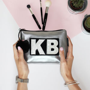 Personalised Silver Make Up Bag - gifts for her