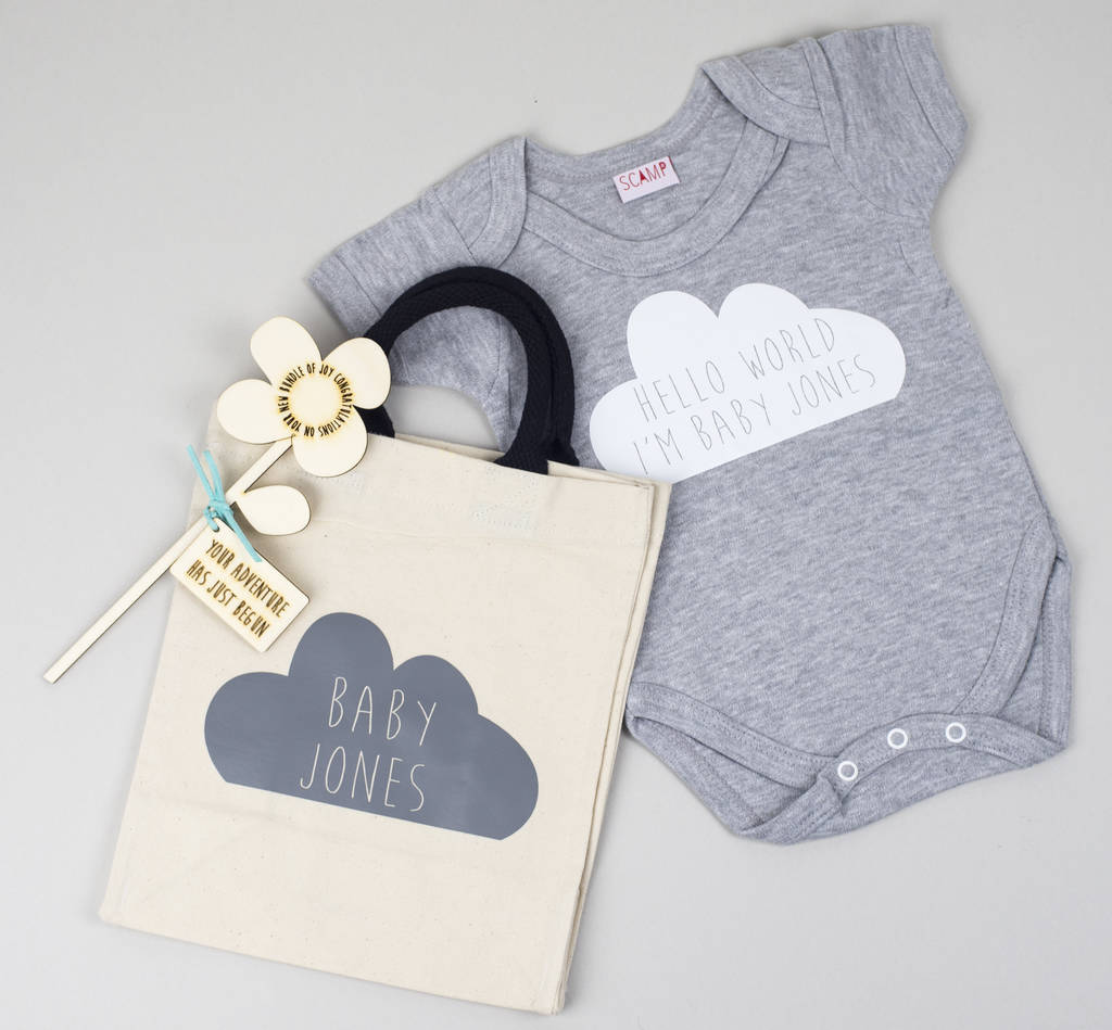 Personalised baby shower gift set by we are scamp personalised baby shower gift set negle Choice Image