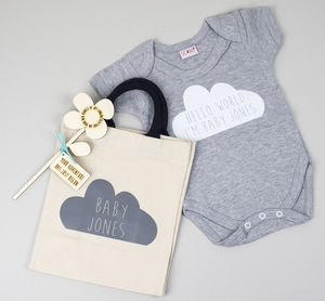 Personalised Baby Shower Gift Set - clothing
