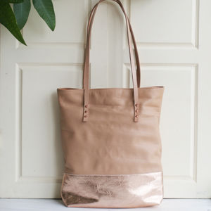 Handcrafted Leather Shopper Bag