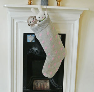 Personalised Knitted Christmas Stocking