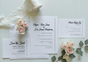 Simplicity Wedding Invitation